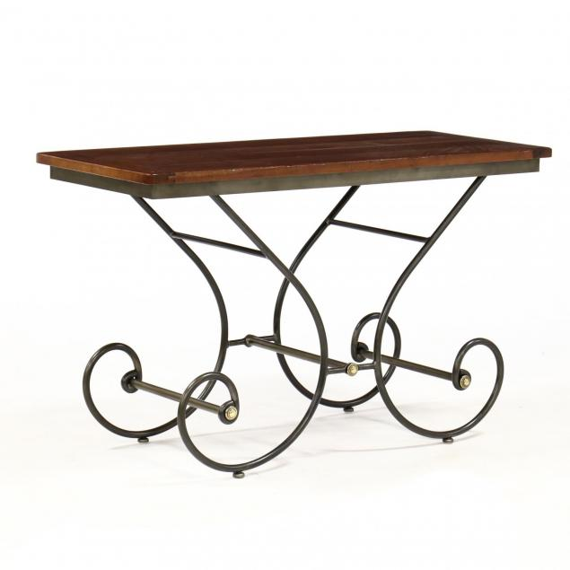 contemporary-baker-s-style-console-table