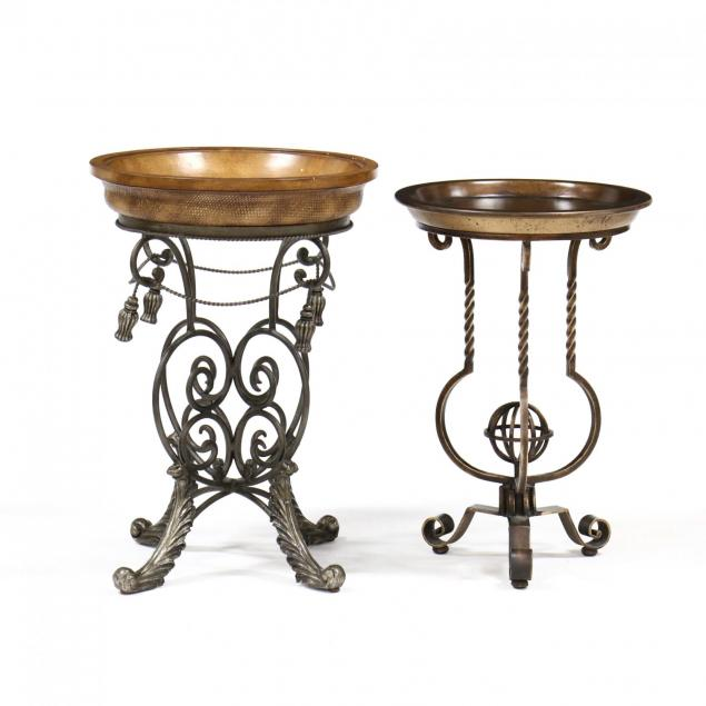 two-contemporary-circular-side-tables