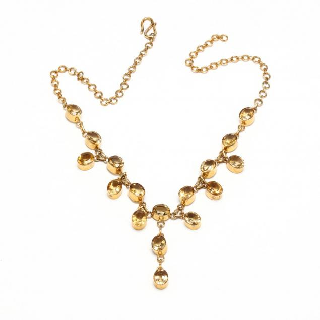 gold-tone-citrine-festoon-necklace