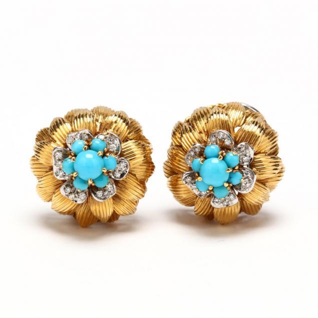 18kt-gold-turquoise-and-diamond-earrings-italian