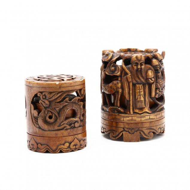 two-chinese-finely-carved-hardstone-incense-burners