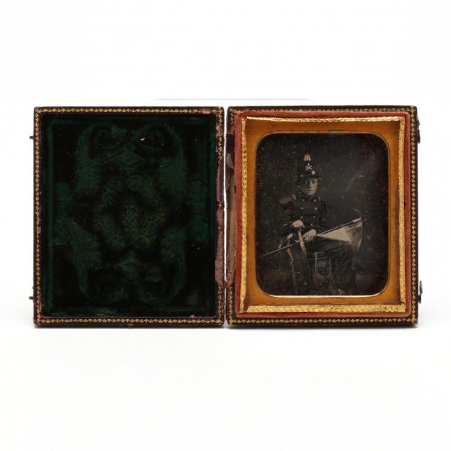 cased-sixth-plate-daguerreotype-of-a-young-new-york-militia-drummer