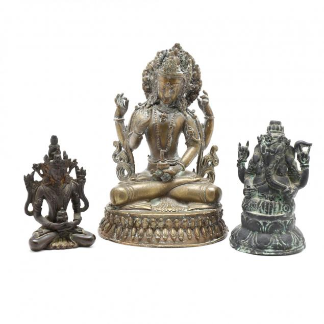 three-himalayan-hindu-bronze-sculptures