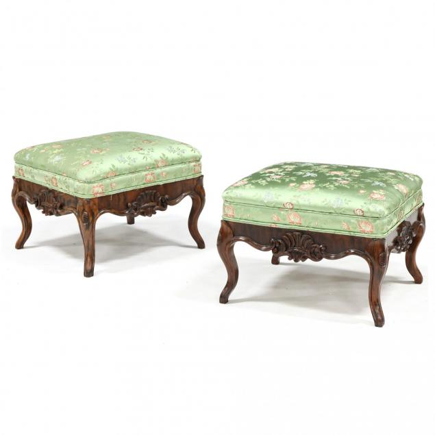 pair-of-rococo-revival-faux-grain-painted-carved-footstools