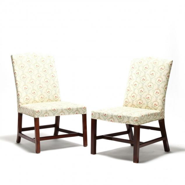two-george-iii-upholstered-mahogany-side-chairs