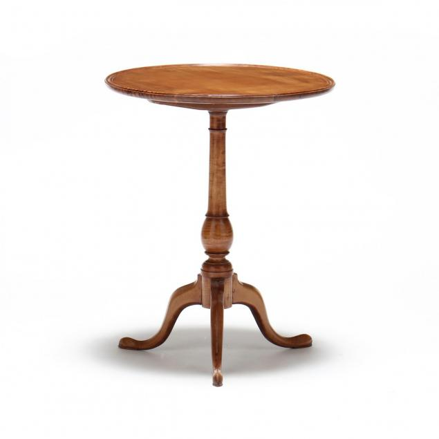 new-england-tiger-maple-queen-anne-dish-top-candlestand