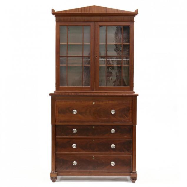 american-late-classical-secretary-bookcase