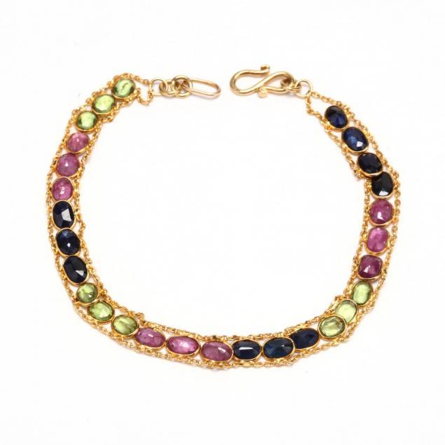 14kt-gem-set-bracelet