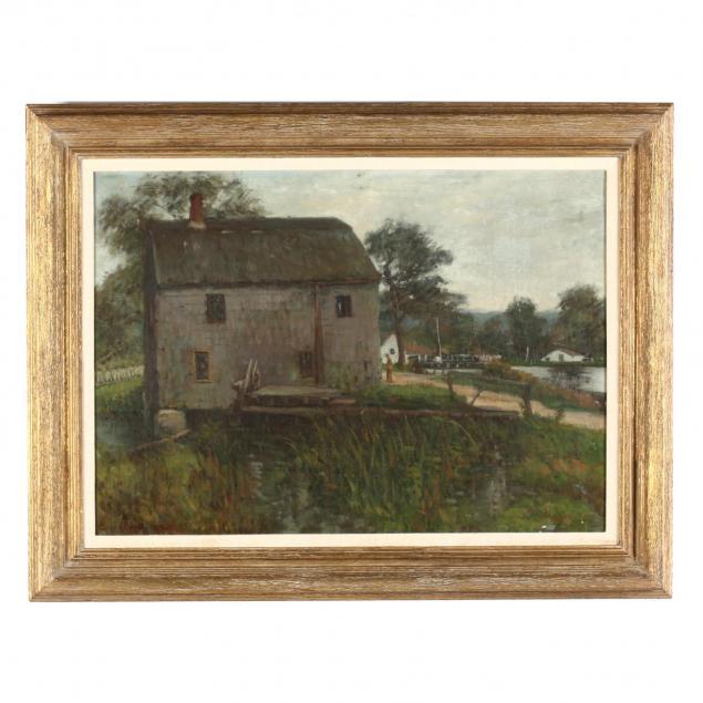 caroline-van-hook-bean-d-c-ny-1879-1980-village-scene