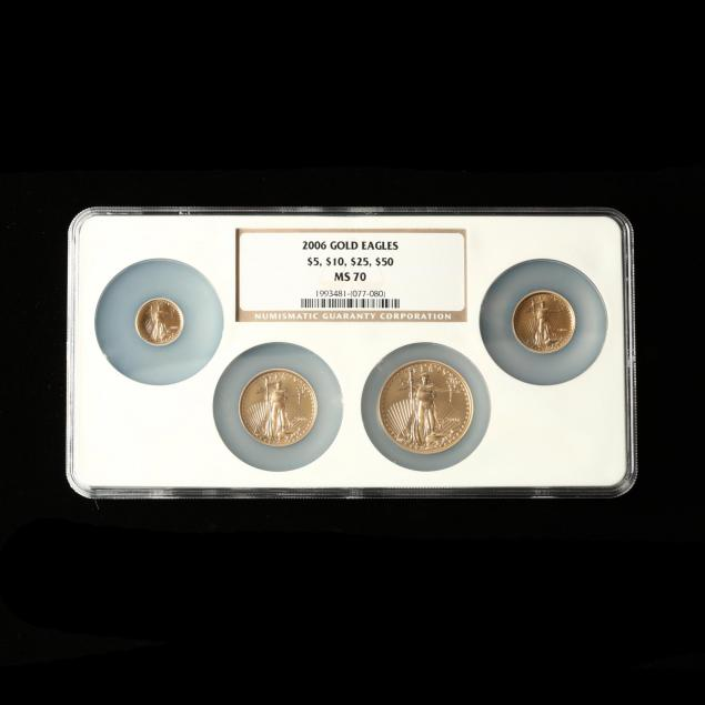 2006-four-coin-gold-american-eagle-denomination-set-ngc-ms70