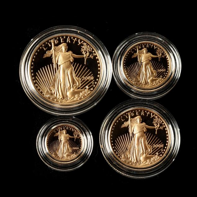 2006-w-four-coin-proof-set-of-gold-american-eagles