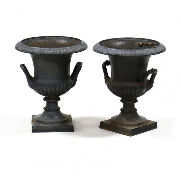 pair-of-classical-style-cast-iron-garden-urns