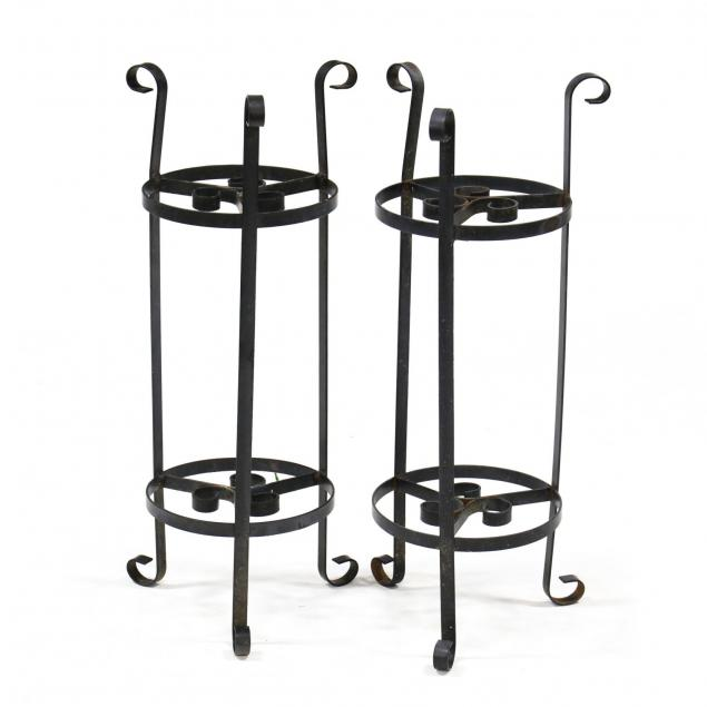 pair-of-vintage-iron-plant-stands