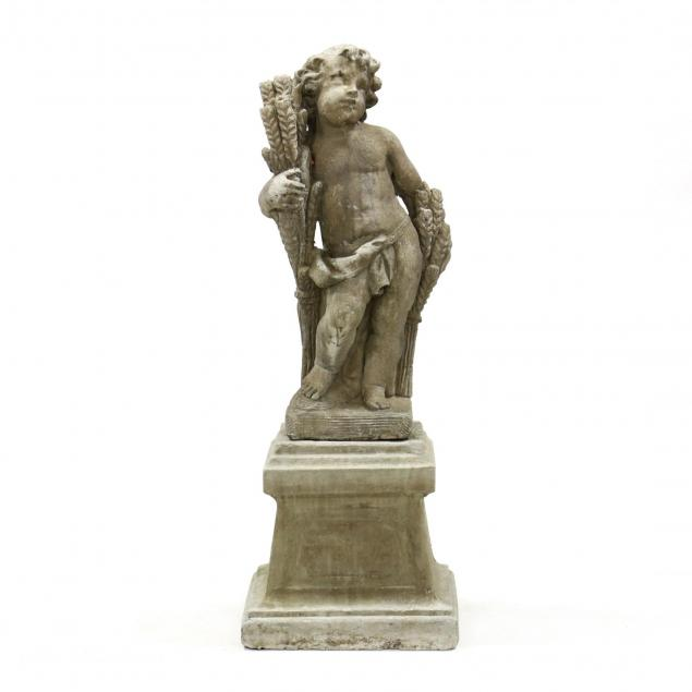 classical-style-large-cast-stone-garden-statue-on-plinth