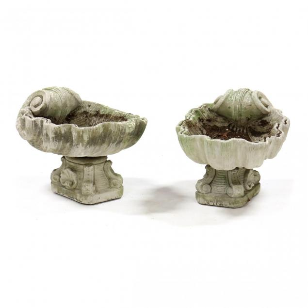 pair-of-rococo-style-cast-stone-shell-form-planters