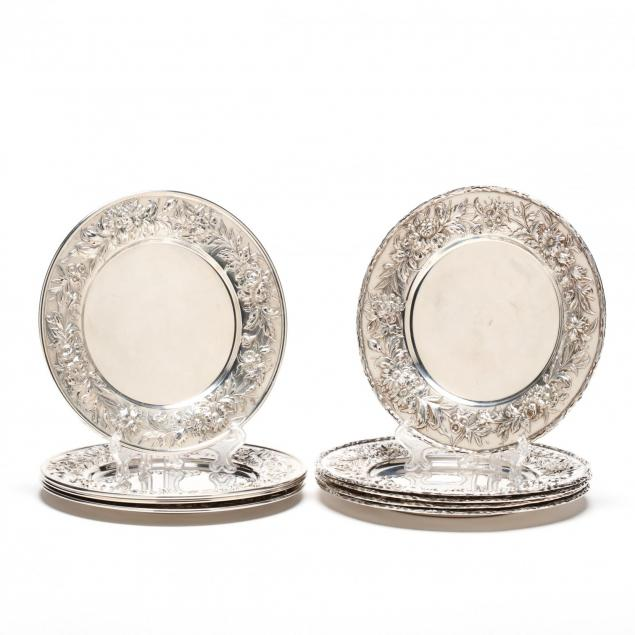 an-assembled-set-of-nine-s-kirk-son-repousse-sterling-silver-bread-plates