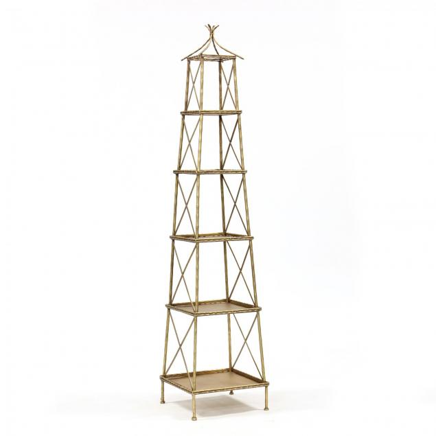 contemporary-gilt-metal-faux-bamboo-etagere