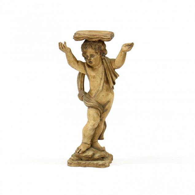 contemporary-painted-putto-pedestal