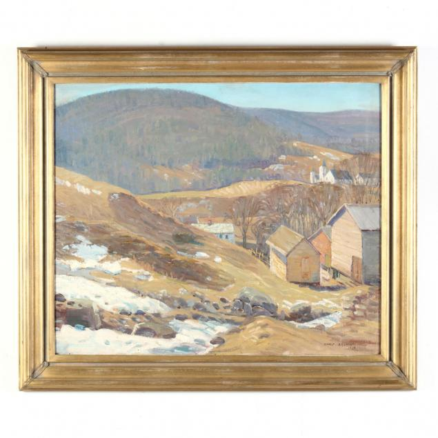 ernest-beaumont-ny-1871-1933-melting-snow