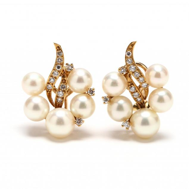 18kt-gold-pearl-and-diamond-ear-clips