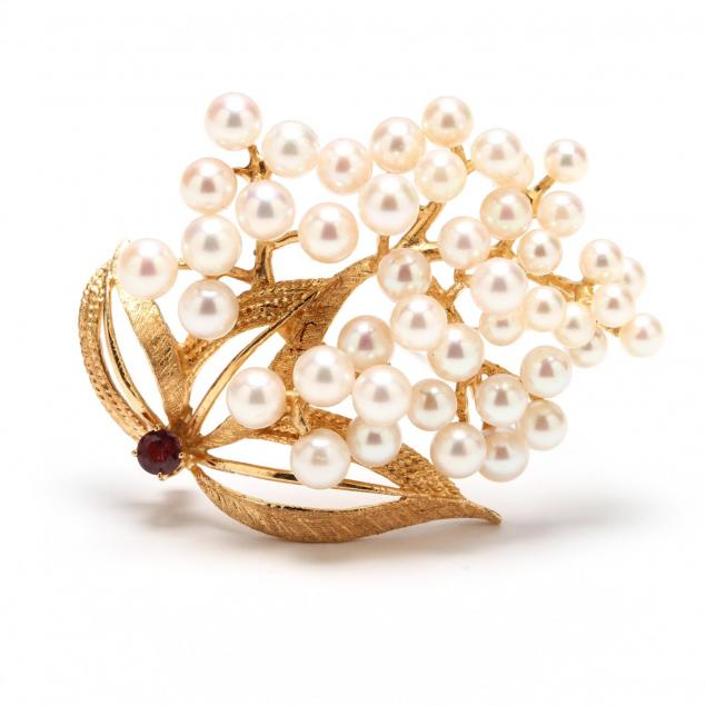 14kt-gold-akoya-pearl-and-pink-sapphire-brooch