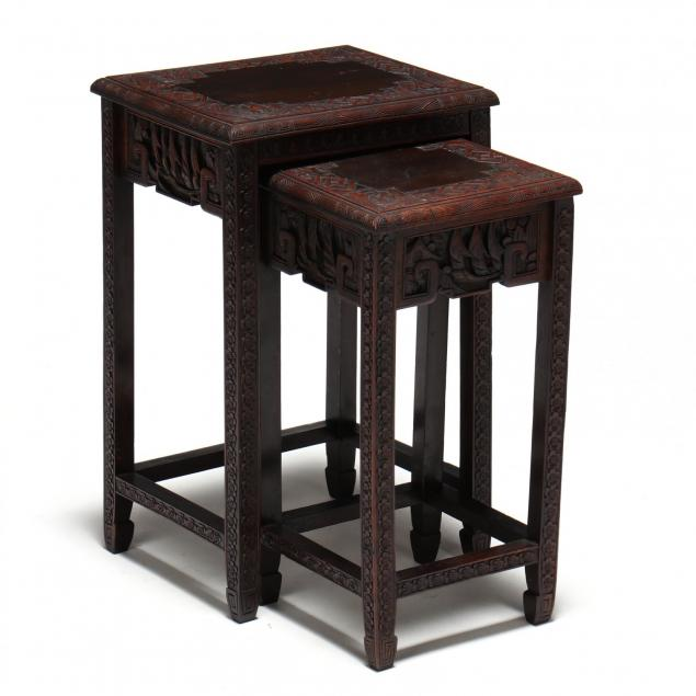 two-chinese-carved-wood-nesting-tables
