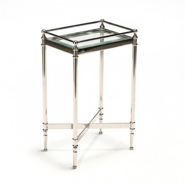 contemporary-chrome-and-glass-side-table