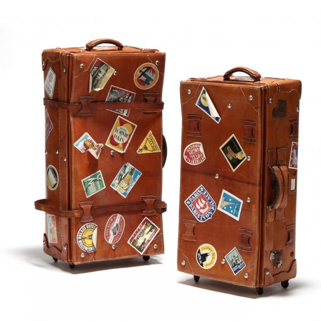 two-vintage-leather-suitcases