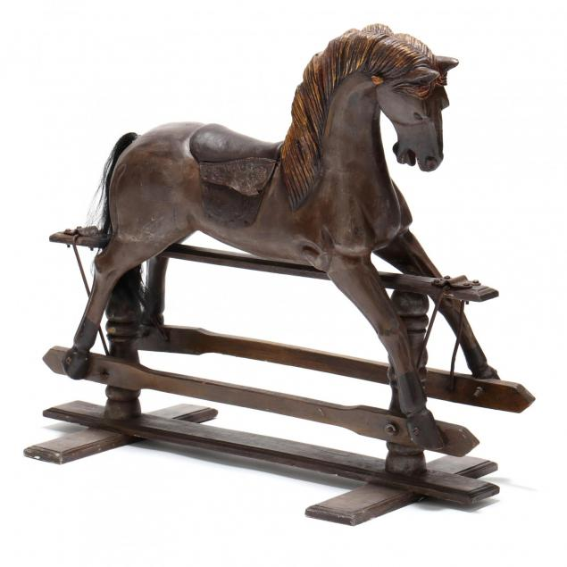 carved-and-painted-rocking-horse
