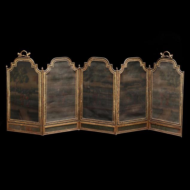 an-antique-japonesque-painted-fire-screen