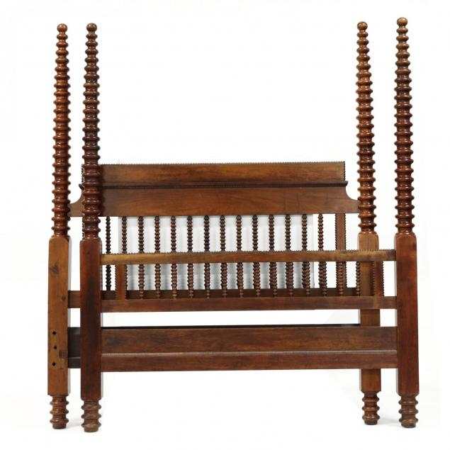 antique-tall-post-walnut-bed