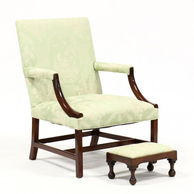 american-antique-lolling-chair-with-foot-stool