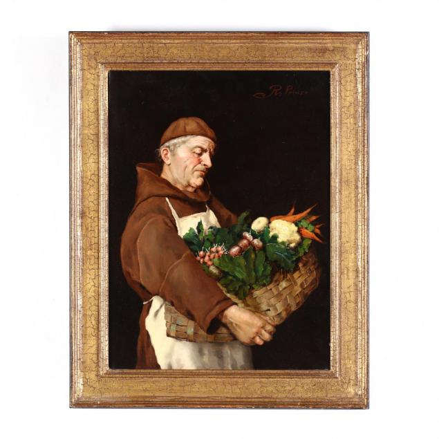 italian-school-19th-century-portrait-of-a-monk-with-vegetable-gathering