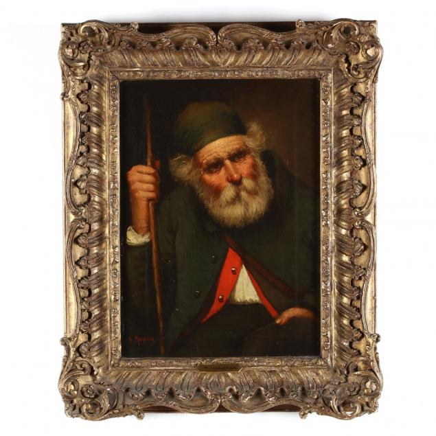 salvatore-maresca-italian-19th-20th-century-portrait-of-an-old-man