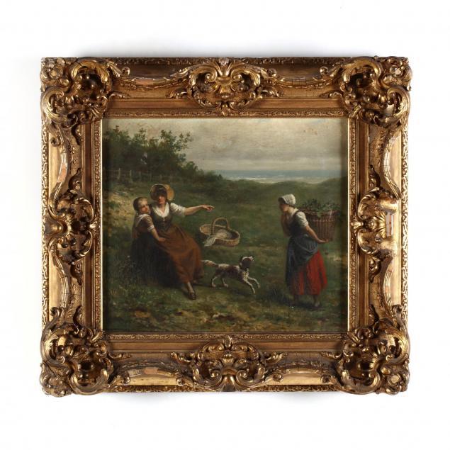 jan-jacobus-matthijs-damschroder-dutch-1825-1905-seaside-frolic