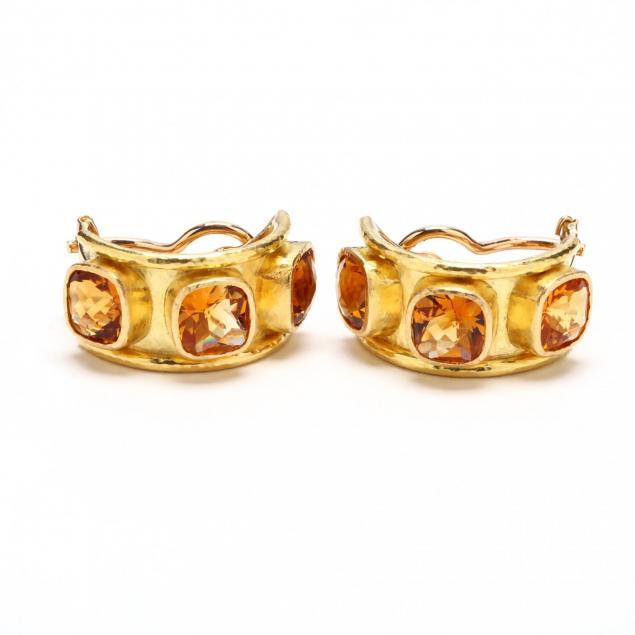 19kt-gold-and-citrine-earrings-elizabeth-locke