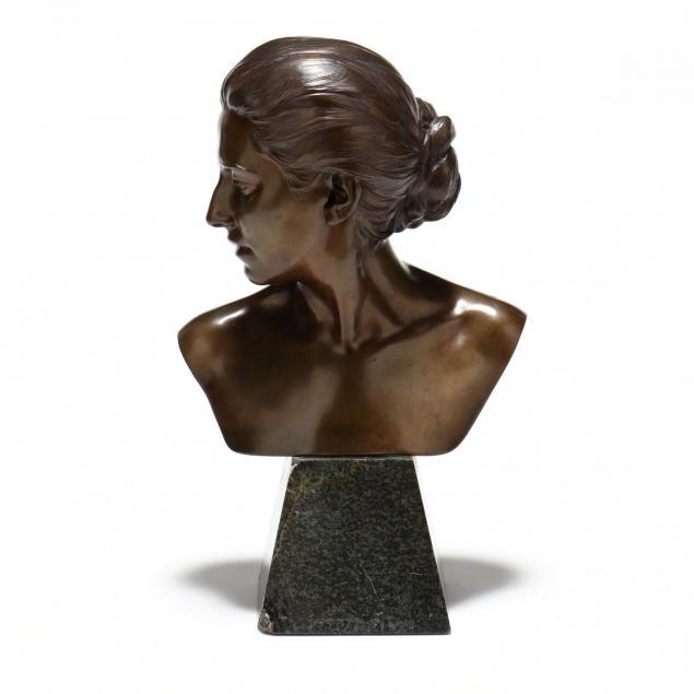 a-german-bronze-bust-of-a-woman