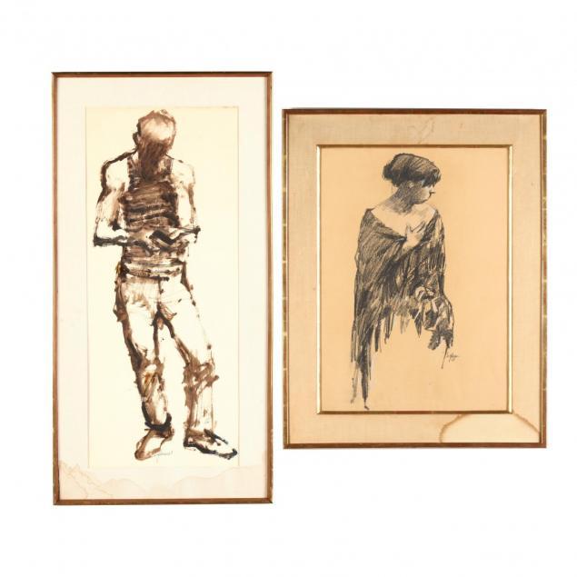 richard-segalman-ny-b-1934-two-figure-studies