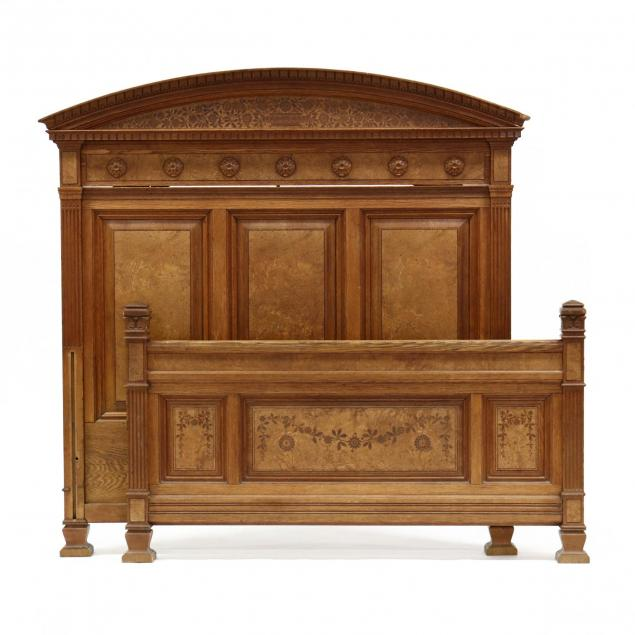 herter-brothers-signed-burlwood-carved-and-inlaid-bed