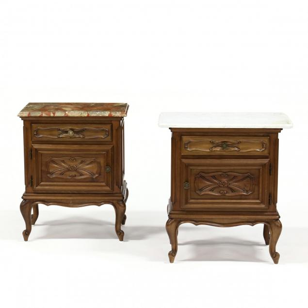 pair-of-french-provincial-marble-top-bedside-cabinets