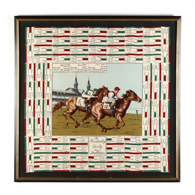 framed-commemorative-kentucky-derby-scarf