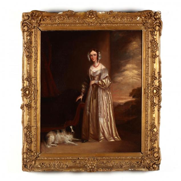 english-school-19th-century-portrait-of-a-woman-and-her-spaniel