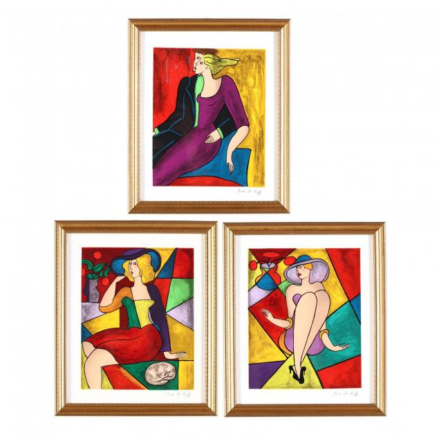 linda-le-kinff-french-b-1949-group-of-3-framed-silkscreens