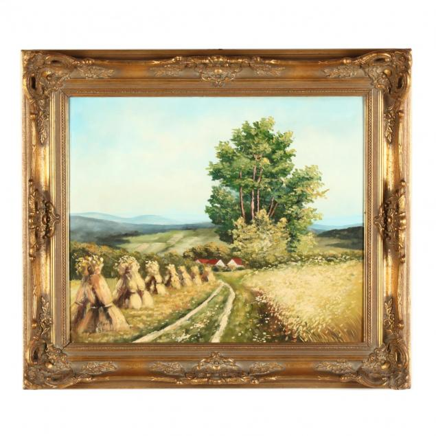 german-school-20th-century-landscape-with-haystacks
