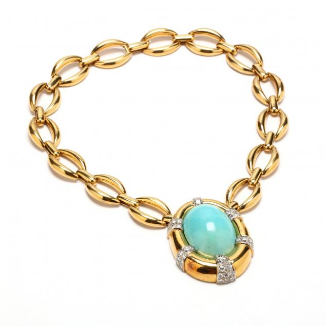 18kt-gold-turquoise-and-diamond-necklace