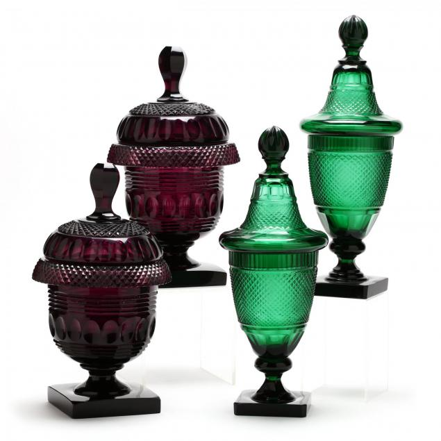 two-pair-of-anglo-irish-colored-cut-glass-sweet-meat-urns