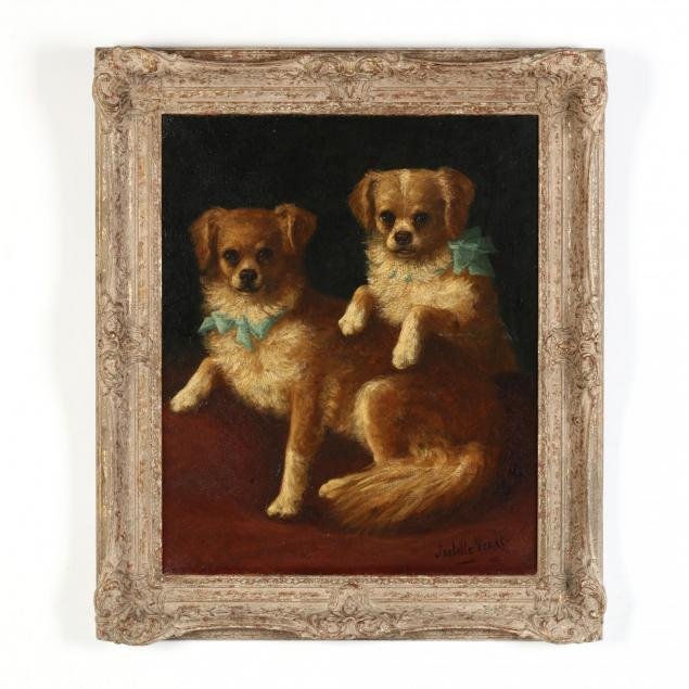 isabelle-venat-french-19th-century-a-portrait-of-two-companion-dogs