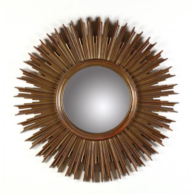 vintage-syroco-wood-sunburst-mirror