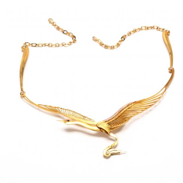 gold-bird-motif-necklace