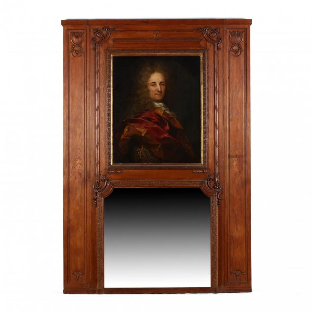 an-english-trumeau-mirror-with-portrait-of-a-gentleman
